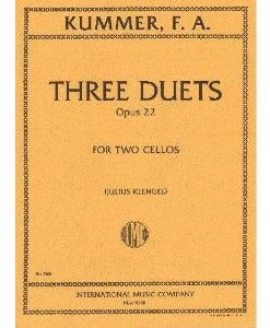 Kummer, F.A. - Three Duets, Op. 22 - Two Cellos - edited by Julius Klengel - International Music